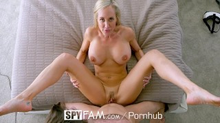 SpyFam Big tit step mom Brandi Love fucks gamer stepson Pov black