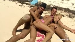 Private.com - Justine Ashley Has DP Threeway