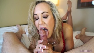 Insanely hot MILF treats your cock to a sensual sucking (Brandi Love) thigh high stockings lingerie milf mhb point of view huge cumshot big tits mom milf pov mark rockwell mother brandi love marks head bobbers pov mhbhj big load