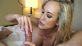 Insanely hot MILF treats your cock to a sensual sucking (Brandi Love) thigh-high-stockings lingerie milf mhb point-of-view huge-cumshot big-tits mom milf-pov mark-rockwell mother brandi-love marks-head-bobbers pov mhbhj big-load