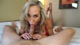 Insanely hot MILF treats your cock to a sensual sucking (Brandi Love) Made massive