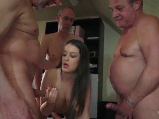 Young hairy met art blondes
