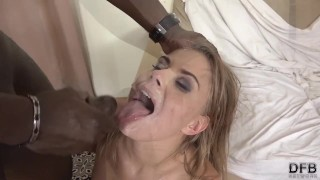 Interracial Blowjob Cumshot Compilation white Girls Sucking swallowing cum 3some amateur