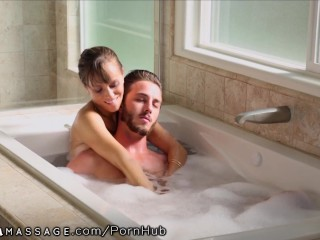 I Like To Fuck My Wife NuruMassage Stepmom Draws Bath for Son