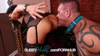 Cuckold Training Her Husband  masturbation training subbyhubby cuckold femdom fucking fetish hardcore milf kink pussy rough shaved tattoos sex toys rough sex