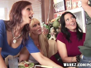 First Time Anal Fuking Wankz - Three Stacked Milfs Desperate For Meat