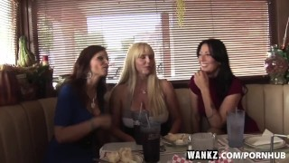 WANKZ- Three Stacked Milfs Desperate For Meat  doggy style cum swap big tits big cock old blonde mom foursome skinny milf hardcore curvy gangbang brunette cougar mother stockings wankz
