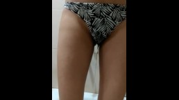 Pissing on panties