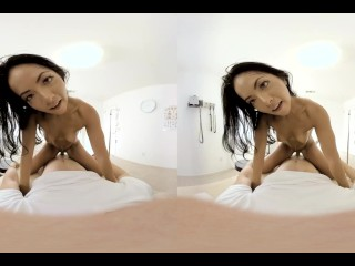 VR BANGERS-Angel Piaff Masturbate With Sexy Lingerie And Cum Hard