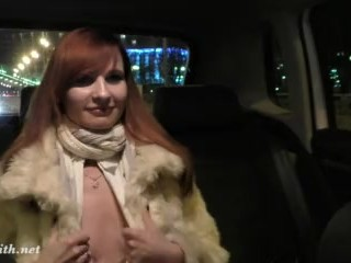Female cuckold stories jeny smith gets naked on the back seat of taxi jenysmith public outside