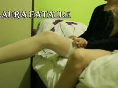 TEEN STEP SISTER NYLON AND STOCKINGS MASTURBATION - Laura Fatalle