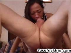 Julea London extreme face fucking and double penetration