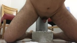 Continous male squirting with a dildo in the p-spot