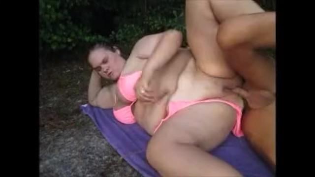 Wife having sex outside - Bikini wife having sex outside orgasm taking cumshot on chest
