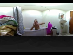 Erotic bath with Amazing teen Intimate 360 VR 4K HD