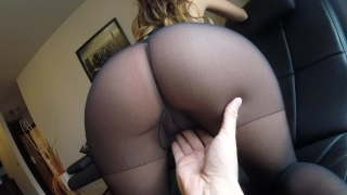 Sexy MILF Claudia fucked in pantyhose 18 barely