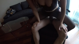 Sexy MILF Claudia fucked in pantyhose Tits boobs