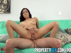 PropertySex - Cute petite tenant wants to fucks landlord