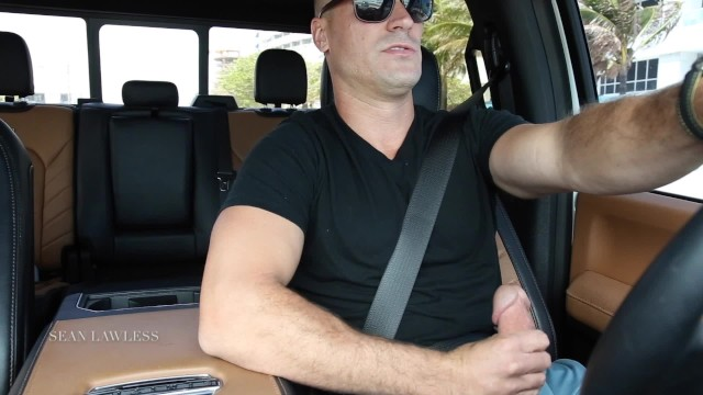 Big dick jack off Sean lawless jacks off in traffic
