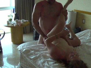 Room Service tries to walk in during filming too funny