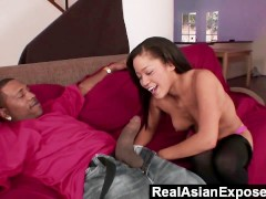 RealAsianExposed - Jayla is so thrilled to get such a big dick in her tiny