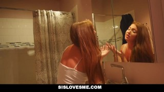 SisLovesMe- Sis Rubs My Cum All Over Her Face big-cock young taboo point-of-view teens teen step-sister sislovesme brother-and-sister brother-fucks-sister brunette step-brother skinny family-taboo hd sister teenager petite