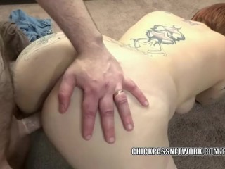 Busty swinger Tiffany Blake takes a cock in her plump twat