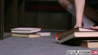 My Little Bookworm - Lil nerdy teen Ariel Grace fucks in the library