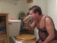 Drinking a Full Glass of My Pee