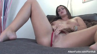 Alison with pussy tyler wet boobed big plays hot her big lingerie