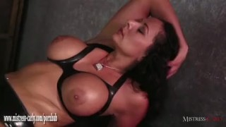 Hot Mistress feeds cuckold slave her hot spunky pussy after big cock fuck big-cock femdom hardcore eating-pussy amateur fingering latex mistress-carly big-boobs cumshot bdsm mistress bondage cuckold