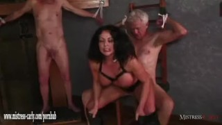 Hot Mistress feeds cuckold slave her hot spunky pussy after big cock fuck  mistress carly big cock bdsm cuckold femdom amateur cumshot hardcore fingering latex mistress bondage big boobs eating pussy