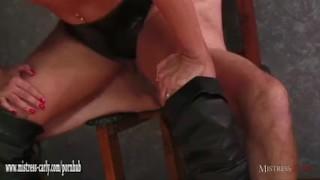 Hot Mistress feeds cuckold slave her hot spunky pussy after big cock fuck  big cock femdom hardcore eating pussy amateur fingering latex mistress carly big boobs cumshot bdsm mistress bondage cuckold