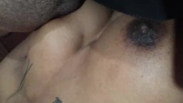 Big tittied Ebony skinny chick! Sucks and gets fucked