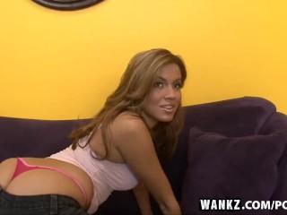 Wankz horny slut shows off her