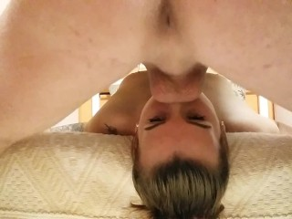 UPSIDE DOWN DEEPTHROAT THROATFUCK FACIAL