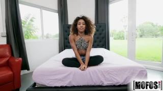 Mofos Tinny ebony teen Kendall Woods takes huge load