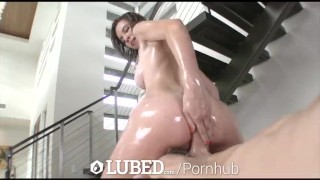 LUBED CeCe Capella lubes up whole body for slippery sexy fuck  cece capella big cock hd blowjob big dick oiled hardcore sex hottie drilled bald pussy lubed bubble butt titty fuck shaved pussy