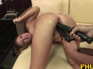 Fhuta – A big toy in her pussy while her ass gets fucked