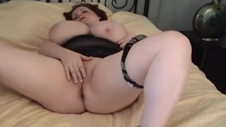 Sexy BBW Legend Sapphire Finger Fucks Herself in Amateur Video Tits breast