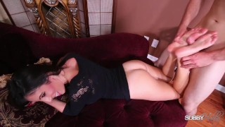 Foxx subbyhubby footjob dava gives a tattoo sucking