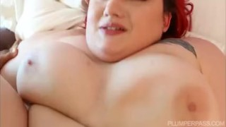 Redhead BBW Gets Fucked on Miami Balcony