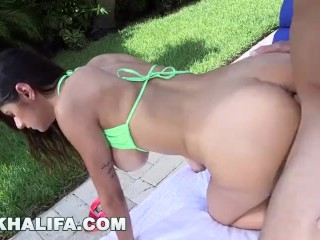 Mia Khalifa's Wet Big Tits Getting Fucked By The Pool (mk13785)