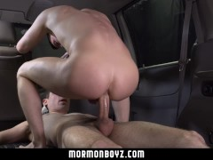 MormonBoyz- Two Teens Have A Quickie In A Van