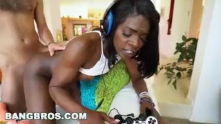 Ebony bangbros gets fuck ana good gamer bkb foxxx a big natural