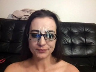 Top 10 sexy pussy face fucked and facial while chatting with friends blowjob face fuck fa