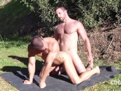 Morgan Black Fucks Cavin Knight on the Grass