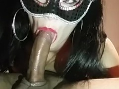 HOT BRUNETTE GIVING BEST BLOWJOB EVER