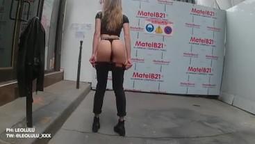 Amateur public in Paris! changing room blowjob fuck and cumshot - Leolulu