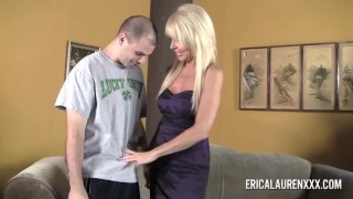 GFE Hot Blonde MILF and Young Stud Teen nerdy